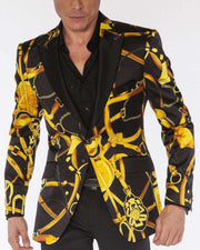 Blazer for Men, Chain2 - Prom - Guys - Fashion - ANGELINO