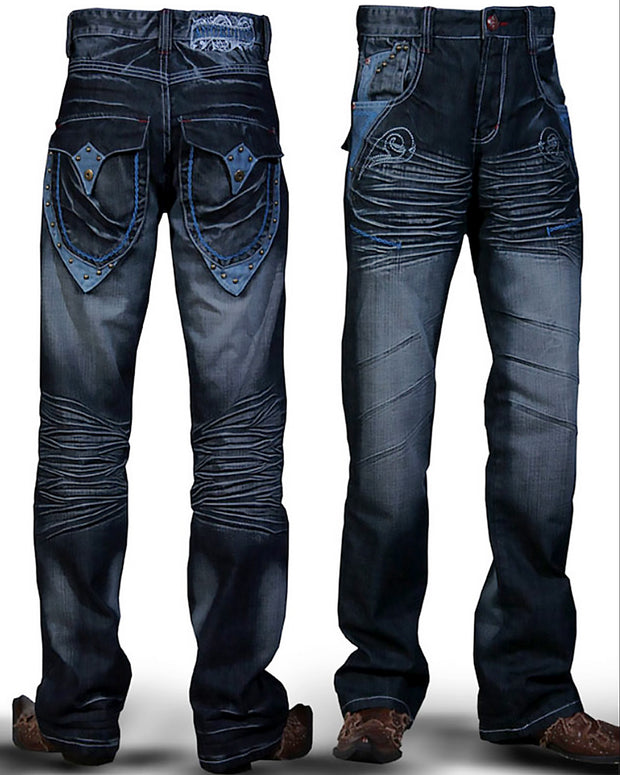 Men's Fashion Angelino Jeans Chain Blue - ANGELINO