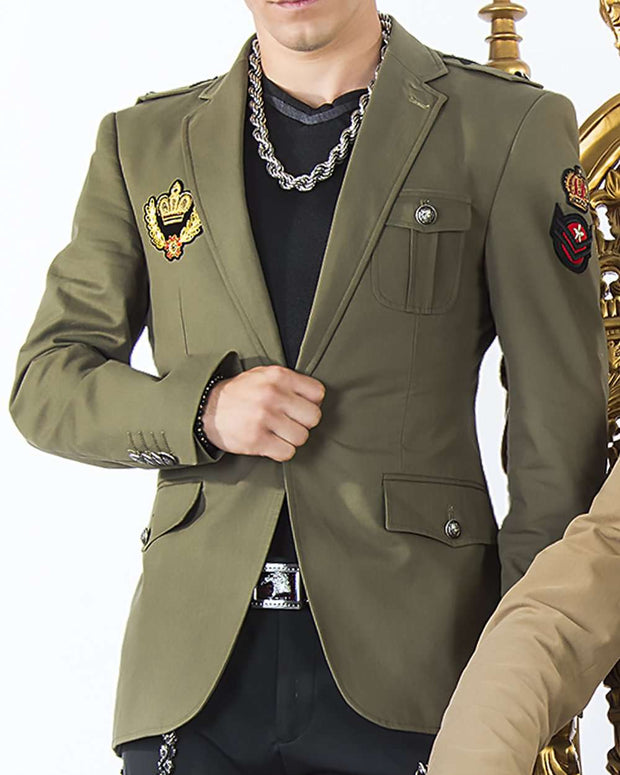 military jacket with badges, sport coat