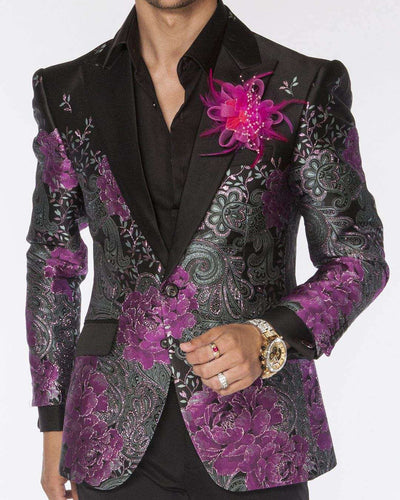 Men's Fashion Blazer F.P. Purple | ANGELINO