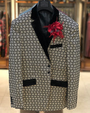 Men's  Blazer  FL. Diamond - Dinner Jacket - Sport Coat - Prom-Wedding - ANGELINO