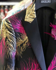 Prom Blazer Feather Pink -38R- Tuxedo - jacket - Prom - ANGELINO