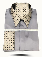 Men's Fashion Silk Shirt 158C - ANGELINO