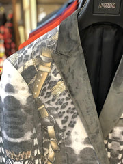 Men's Sport Coat - Floral Gray - ANGELINO
