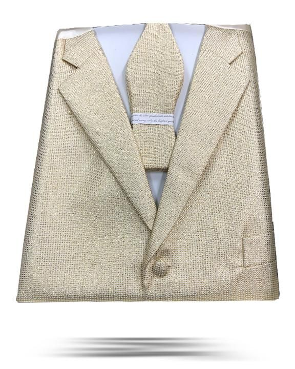 Men's fashion vest set with bowtie in gold color