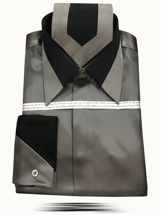 Men's Silk Shirts Gray - ANGELINO