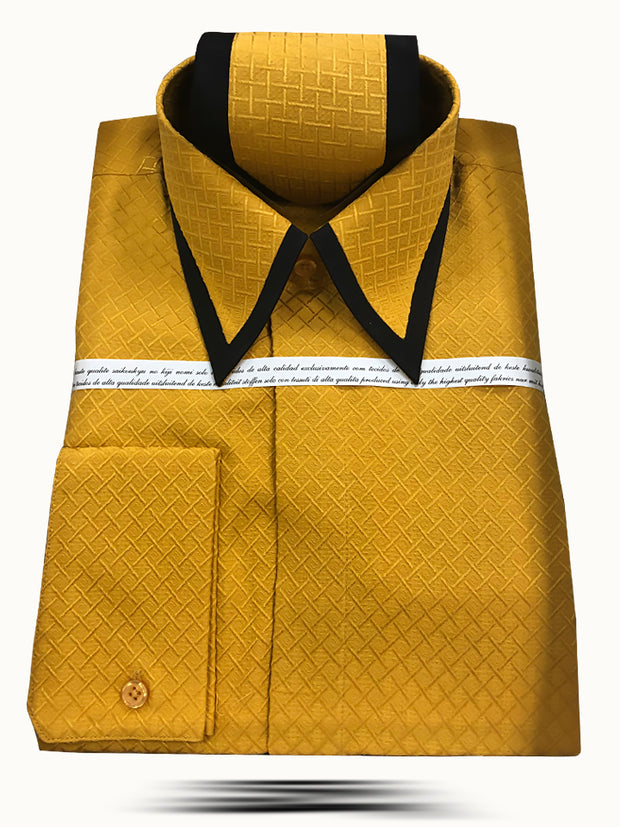 Men's Fashion Silk Shirts SJ Gold - ANGELINO