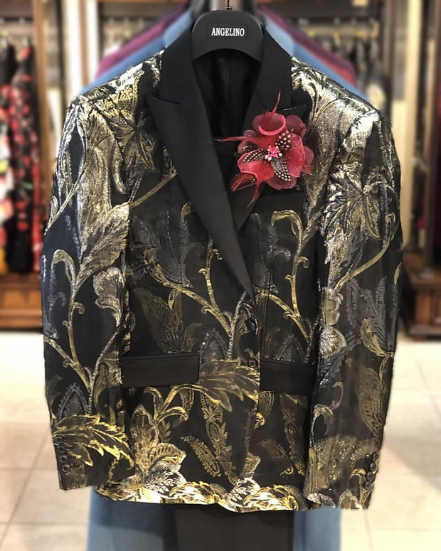 Prom Suit -  Floral Gold - Prom suit 2020 - ANGELINO