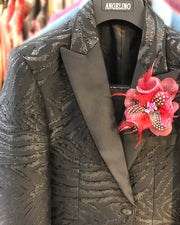 Prom Blazer - Black Tiger - Wedding - Men - Jacket - ANGELINO
