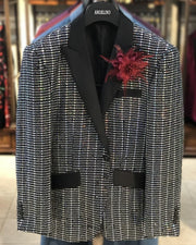 Men's Fashion Blazer, Sequin Blazer - Sparkle - ANGELINO