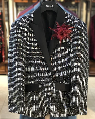 Men's Fashion Blazer, Prom Sequin Blazer - Sparkle - ANGELINO