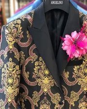 Prom Suit -  Pink Victorian - Prom Tuxedo - ANGELINO