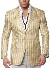 Big and Tall Blazer for men, Mens sport coat, Linea Beige - ANGELINO