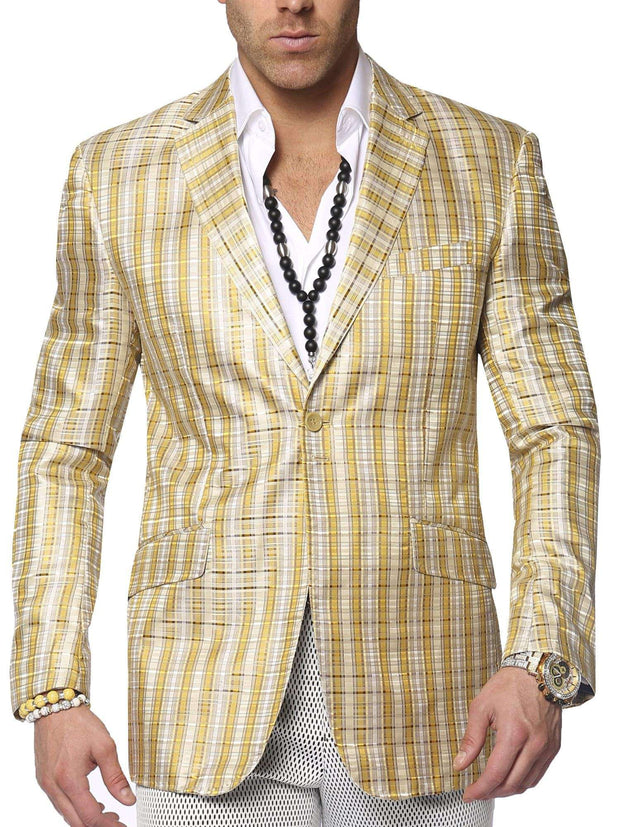 Men's fashion blazer, Linea Beige - ANGELINO