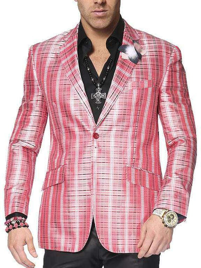 Big and Tall blazer for men, Men's blazer Linea Red