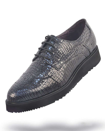 Men's Leather Shoes - London Gray - ANGELINO