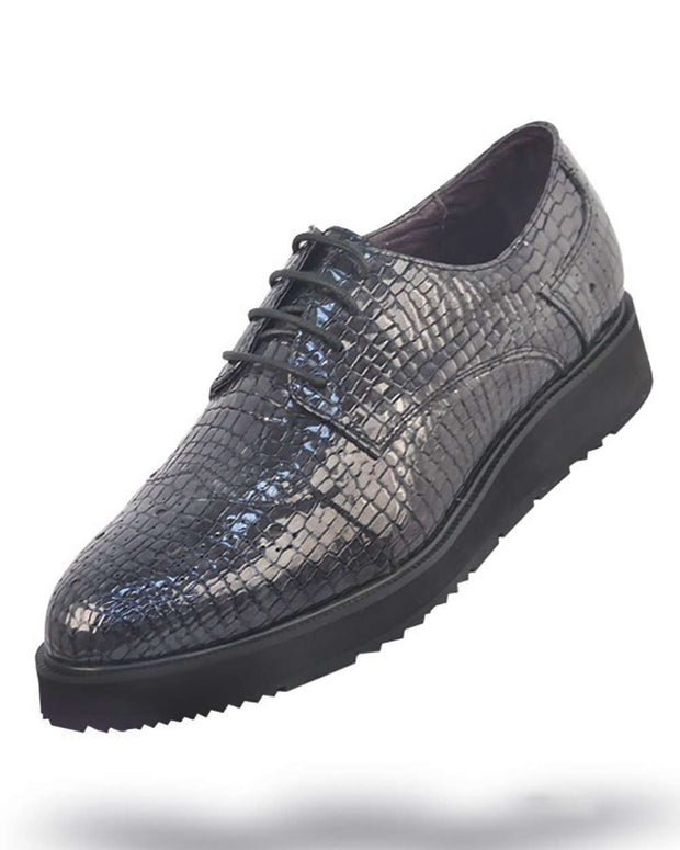 Men's Leather Shoes - London Gray - Fashion - Men -  Stylish - ANGELINO