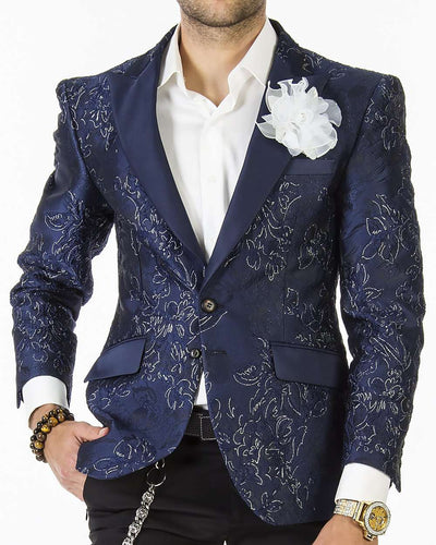 Tuxedo Jacket - London F. Navy - Blazer - Jacket - Slim fit - ANGELINO