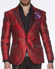 Men's Fashion Lapel Flower Flower3 Purple - ANGELINO