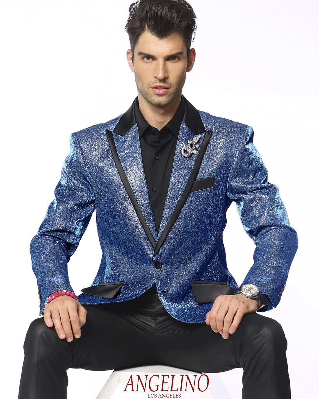 Blazer for men, Lucio Blue - Tuxedo - prom - Wedding