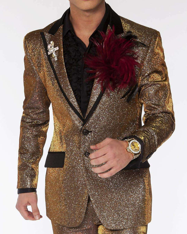 Prom suit gold and silver