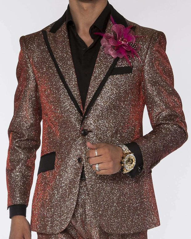 Fashion Suit Lucio Red/silver - ANGELINO