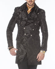 Men's Fashion Jacket - Majesty1 Black/Black - Stylish - Coat - Long - ANGELINO