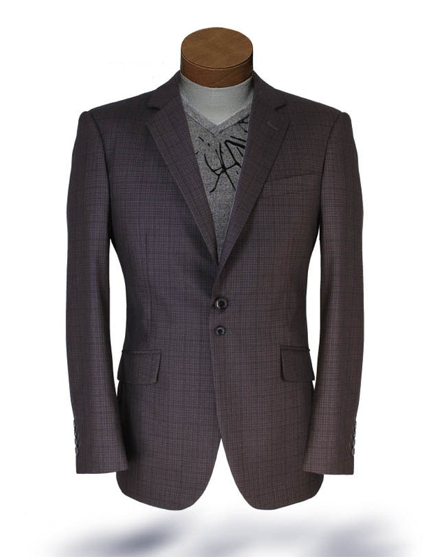 mens plaid sport coat, mens brown plaid blazer