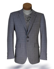 Men's Plaid Blazer - Malibu Small Plaid L. Gray - ANGELINO
