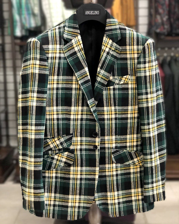 Men's Sport Coat - Manuel Green - Casual Jacket - Winter Blazer for men - ANGELINO