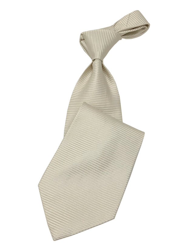 Men's White Necktie #1 - Solid Ties-Wedding-Prom-Silk Ties - ANGELINO