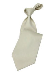 Men's White Necktie #2 - Solid Ties-Wedding-Prom-Silk Ties - ANGELINO