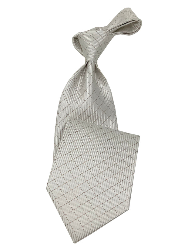 men's silk white tie, white ties for wedding, white tie and hanky set