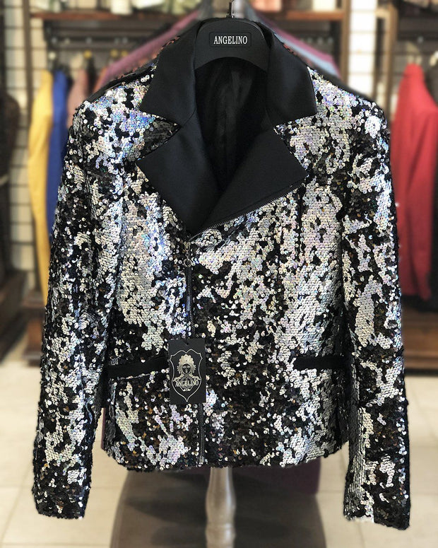 Silver sequin jacket - ANGELINO