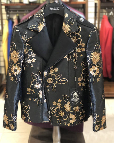 Men's Fashion Jacket - Biker Jacket - Sun F. Gold - ANGELINO