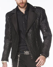 men's biker bomber jacket, black biker  jacket