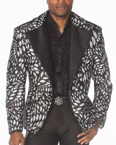 Men's Fashion Jacket - Men's Biker Jacket - T. Silver - ANGELINO
