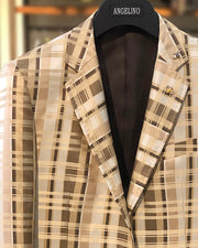 Mens Big and Tall - Mens Sport Coat - Blazer for men - Malibu Beige - ANGELINO