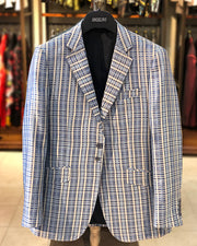 Mens Big and Tall - Mens Sport Coat - Blazer for men - Linea Blue - ANGELINO