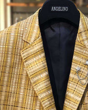 Big and Tall Blazer - Mens Sport Coat - Blazer for men - Linea Gold
