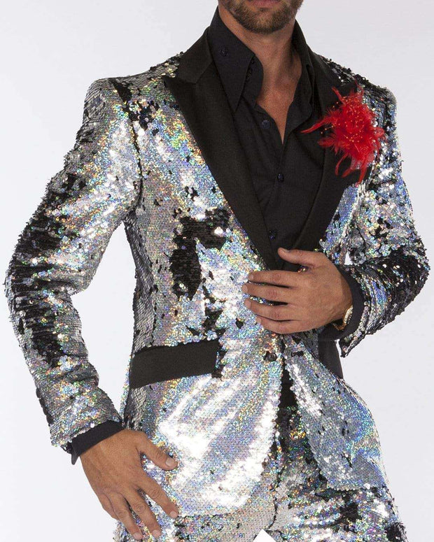 Sequin Suits, R. Sequin Silver - Mens - Tuxedo - Suits - ANGELINO