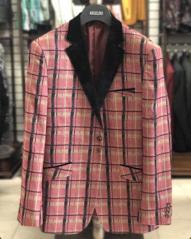 Men's Sport Coat - Nico Pink - Casual Jacket - Winter Blazer for men - ANGELINO
