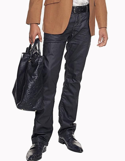 Men's Fashion Wax Jeans - Paco - ANGELINO