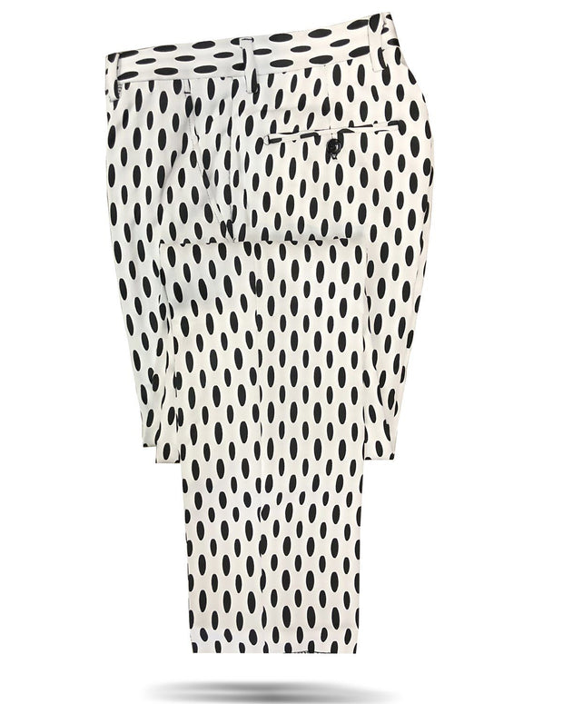Mens pants black and white-  Fashion - Mens - Big Oval - ANGELINO