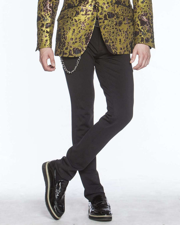 Black Stretch Pants - prom - slim Fit - pants
