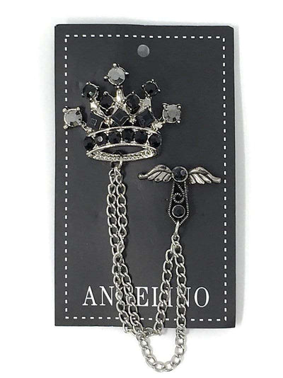 Lapel Pin, Crown Design - Mens Fashion - Prom