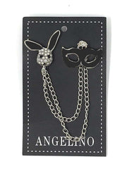 Angelino Lapel Pin Mask Black - ANGELINO