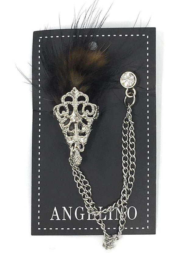 Lapel Pin, Feather - ANGELINO