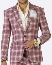Fashion Suit-New Plaid Multi - Mens - Prom - suits - ANGELINO