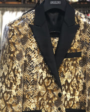 Men's Fashion Suits - Men's Sequins Suits - Animal Print Suits for Men - Sequin Python - ANGELINO